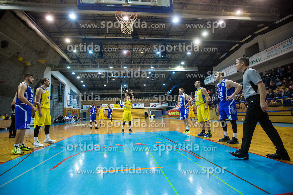 Span Jan of KK Sencur GGD during basketball match between KK Sencur  GGD and KK Tajfun Sentjur for Spar cup 2016, on 16th of February , 2016 in Sencur, Sencur Sports hall, Slovenia. Photo by Grega Valancic / Sportida.com