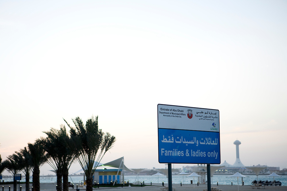 """Abu Dhabi, United Arab Emirates (UAE)..February 3rd 2009..On the """"Corniche Road"""""""