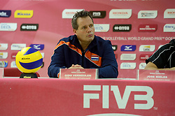 08-08-2014 NED: FIVB Grand Prix Nederland - Puerto Rico, Doetinchem<br /> Coach Gido Vermeulen