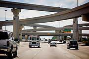 Highway interchange, or multi layered highway intersection, in Houston, Texas.