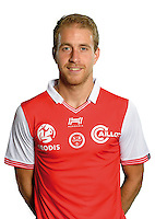 Alexi Peuget of Reims during the photocall of Reims for new season of Ligue 2 on September 29th 2016 in Reims<br /> Photo : Stade de Reims / Icon Sport