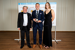 SW COMMS Young Player Of The Season winner Joe Simmonds with Michael Spiers representatives - Ryan Hiscott/JMP - 16/05/2019 - SPORT - Sandy Park - Exeter, England - Exeter Chiefs End of Season Awards