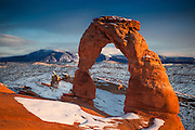 Delicate Arch in Arches National Park. Probably the best-known arch in the park. Utah often uses it as a state symbol, and is even featured on some license plates.