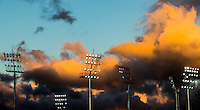 RIO DE JANEIRO  (Brazilië) -  Lights with clouds   during the poolmatch women, Australie-Argentinie  COPYRIGHT KOEN SUYK
