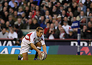 Twickenham, GREAT BRITAIN, Jonny WILKINSON line the ball up, during the  England vs Scotland, Calcutta Cup Rugby match played at the  RFU Twickenham Stadium on Sat 03.02.2007  [Photo, Peter Spurrier/Intersport-images]....
