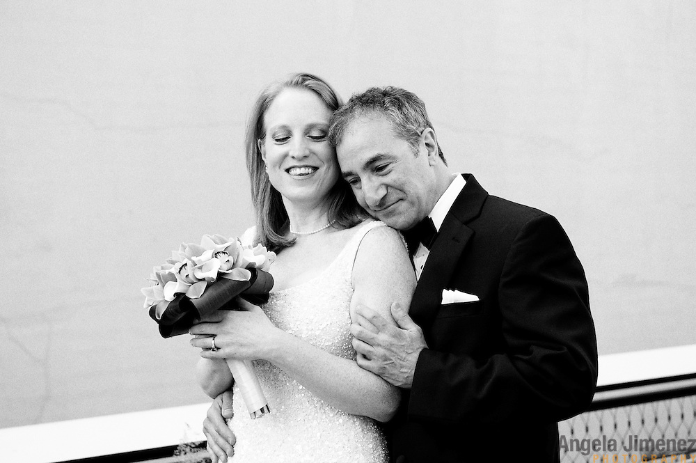Eric & Erin's wedding is photographed at Moran's Restaurant and on The High Line in New York City on May 19, 2012. ..Photograph by Stephanie Keith .for Angela Jimenez Photography.http://www.angelajimenezphotography.com...