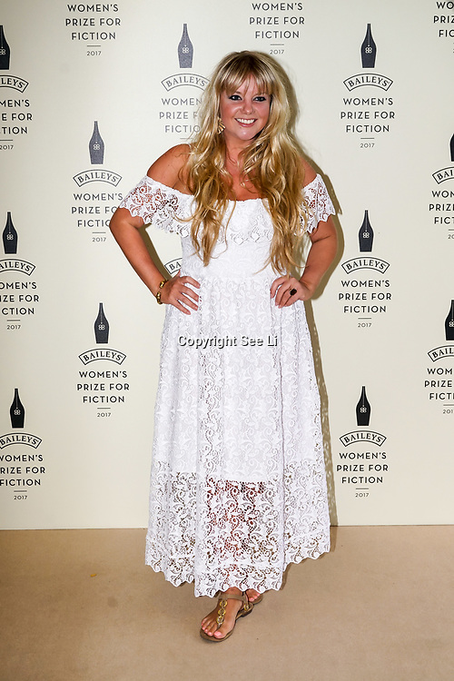 London,UK. 7th June 2017. Goldierocks attends a photocall The Baileys Prize for Women's Fiction Awards 2017 at the The Royal Festival Hall, Southbank Centre. by See Li