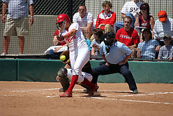 28 April 2007: Kelsey Warning swings and misses. The Southern Illinois Salukis played the Illinois State Redbirds on the campus of Illinois State University in Normal Illinois.
