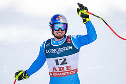 11.02.2019, Aare, SWE, FIS Weltmeisterschaften Ski Alpin, alpine Kombination, Herren, Abfahrt, im Bild Dominik Paris (ITA) // Dominik Paris of Italy reacts after the Downhill competition of the men's alpine combination for the FIS Ski World Championships 2019. Aare, Sweden on 2019/02/11. EXPA Pictures © 2019, PhotoCredit: EXPA/ Dominik Angerer