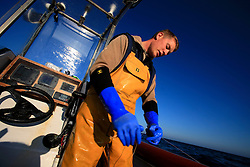UK ENGLAND CORNWALL SENNEN COVE 11JUN08 - Handline fisherman Will Treneer (19) of Newlyn fishes for Pollack off the coast of southwest Cornwall on his boat, the Cornish Rose...jre/Photo by Jiri Rezac / WWF UK..© Jiri Rezac 2008..Contact: +44 (0) 7050 110 417.Mobile:  +44 (0) 7801 337 683.Office:  +44 (0) 20 8968 9635..Email:   jiri@jirirezac.com.Web:    www.jirirezac.com..© All images Jiri Rezac 2008 - All rights reserved.