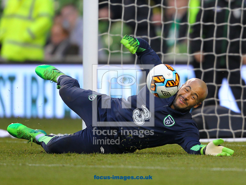 Darren Randolph of Republic of Ireland during the International Friendly match at the Aviva Stadium, Dublin<br /> Picture by Yannis Halas/Focus Images Ltd +353 8725 82019<br /> 28/03/2017