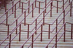BIRMINGHAM, ENGLAND - Tuesday, March 1, 2016: Steps leading to Aston Villa's Villa Park Stadium. (Pic by David Rawcliffe/Propaganda)