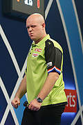 Michael van Gerwen celebrates during the World Darts Championships 2018 at Alexandra Palace, London, United Kingdom on 29 December 2018.