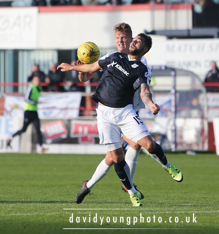 Dundee&rsquo;s Kane Hemmings  - Dundee v Kilmarnock, Ladbrokes Premiership at Dens Park <br /> <br />  - &copy; David Young - www.davidyoungphoto.co.uk - email: davidyoungphoto@gmail.com
