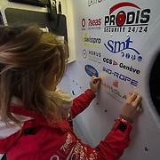Dernier préparatifs à la veille du départ du Vendée-Globe 2016