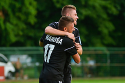 Amadej Marosa of NS Mura and Luka Bobicanec of NS Mura during football match between NS Mura and NK Triglav Kranj in 1st Round of Prva liga Telekom Slovenije 2018/19, on July 21, 2018 in Mestni stadion Fazanerija, Murska Sobota , Slovenia. Photo by Mario Horvat / Sportida