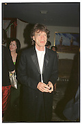 Mick Jagger. Miramax post Bafta's party. Noble Rot. 9 April 2000. © Copyright Photograph by Dafydd Jones 66 Stockwell Park Rd. London SW9 0DA Tel 020 7733 0108 www.dafjones.com