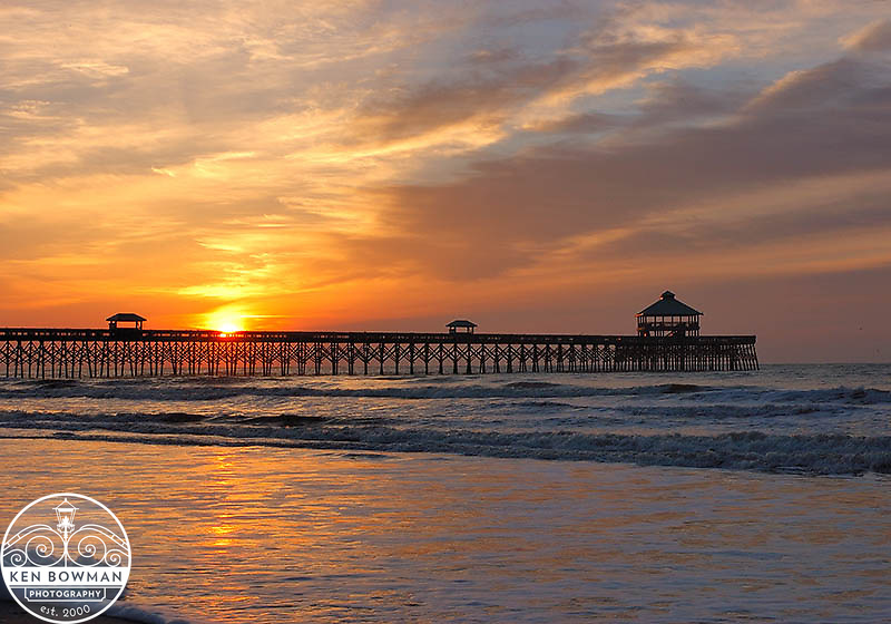 Folly Beach fishing pier sunrise