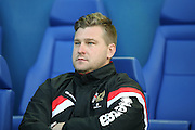 MK Dons manager Karl Robinson  during the Sky Bet Championship match between Sheffield Wednesday and Milton Keynes Dons at Hillsborough, Sheffield, England on 19 April 2016. Photo by Simon Davies.