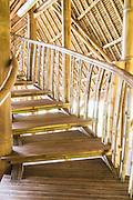 Bamboo stairway detail