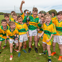 Carrigaholt Schools Team celebrating their win over Kilmurry McMahon