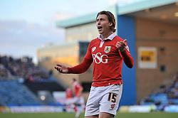 Bristol City's Luke Freeman protests for a corner kick - Photo mandatory by-line: Dougie Allward/JMP - Mobile: 07966 386802 - 28/12/2014 - SPORT - football - Gillingham - Priestfield Stadium - Bristol City v Gillingham - Sky Bet League One