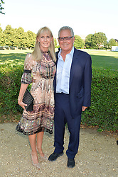 SUSAN SANGSTER and RICHARD NORTHCOTT at the Frost Family Summer party in support of the British Heart Foundation and the Mile Frost Fund held at Burton Court, Chelsea, London  on 18th July 2016.