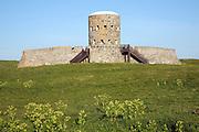 Eighteenth century loophole 'martello' Rousse tower, Sampson, Guernsey