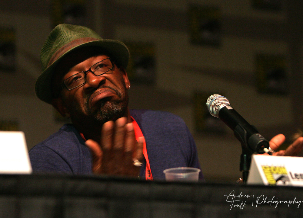 "Andrew Foulk/ Zuma Press.July 24, 2009, San Diego, California, USA. Lennie James Comic Con. Actor ""Lennie James"" of ""Jericho"" fame talks about his upcoming show ""The Prisoner"" , during day two of the 40th annual San Diego International Comic Con."