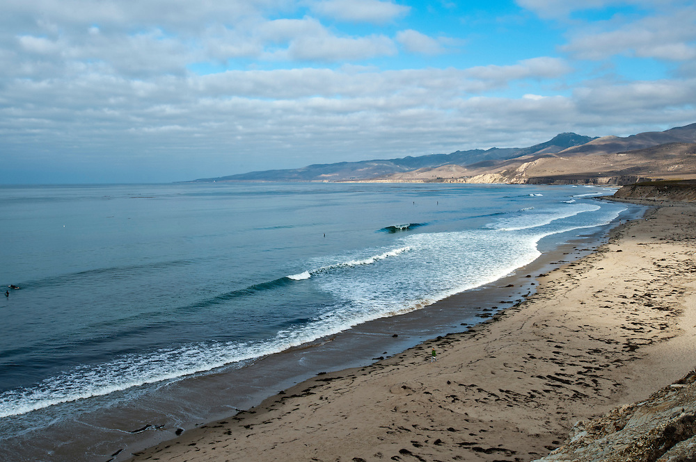 Glassy morning conditions on the Central Calif. coast on Sept. 30, 2011.  (Photo by Aaron Schmidt © 2011)