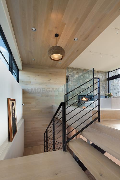 98 Lyle Modern Home stairway to lower level VA 2-174-303