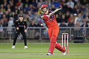 Lancashire Lightnings Liam Livingstone  during the Vitality T20 Blast North Group match between Lancashire Lightning and Leicestershire Foxes at the Emirates, Old Trafford, Manchester, United Kingdom on 30 August 2019.