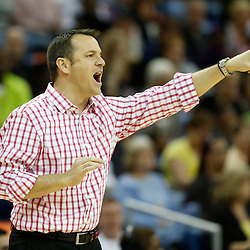 April 7, 2013; New Orleans, LA, USA; Louisville Cardinals head coach Jeff Walz instructs against the California Golden Bears during the second half in the semifinals during the 2013 NCAA womens Final Four at the New Orleans Arena. Mandatory Credit: Derick E. Hingle-USA TODAY Sports