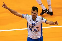 12-05-2019 NED: Abiant Lycurgus - Achterhoek Orion, Groningen<br /> Final Round 5 of 5 Eredivisie volleyball, Orion wins Dutch title after thriller against Lycurgus 3-2 / Hossein Ghanbari #13 of Lycurgus