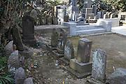 Sekibutsu or stone Buddhas in Kamakura Japan
