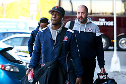 Jalan McCloud of Bristol Flyers arrives at Sheffield Sharks - Photo mandatory by-line: Robbie Stephenson/JMP - 29/03/2019 - BASKETBALL - English Institute of Sport - Sheffield, England - Sheffield Sharks v Bristol Flyers - British Basketball League Championship