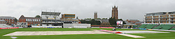 General view of the County Ground, Taunton during a rain delay. - Mandatory byline: Alex Davidson/JMP - 07966386802 - 24/08/2015 - Cricket - County Ground -Taunton,England - Somerset CCC v Worcestershire CCC - LV= County Championship Division One - Day 4