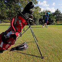 Thomas Wells | Buy at PHOTOS.DJOURNAL.COM<br /> Brooks Waldrop, 11, tees off on the sixth hole at Bel-Air on Wedensday as part of after school golf club at Milam Elementary.