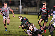 Nathan Fowles on the ball during the Guinness Pro 14 2017_18 match between Edinburgh Rugby and Southern Kings at Myreside Stadium, Edinburgh, Scotland on 5 January 2018. Photo by Kevin Murray.
