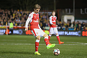 Arsenal Defender Nacho Monreal during the The FA Cup match between Sutton United and Arsenal at Gander Green Lane, Sutton, United Kingdom on 20 February 2017. Photo by Phil Duncan.