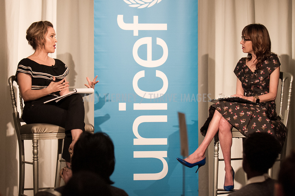 UNICEF Ambassador Alyssa Milano, Andrea Nevins