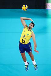 Mauricio Souza of Brazil during friendly volleyball match between national teams of Slovenia and Brasil in Arena Stozice on 9. September 2015 in , Ljubljana, Slovenia. Photo by Matic Klansek Velej / Sportida