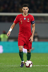 November 20, 2018 - Guimaraes, Guimaraes, Portugal - Pepe defender of Portugal in action during the UEFA Nations League football match between Portugal and Poland at the Dao Afonso Henriques stadium in Guimaraes on November 20, 2018. (Credit Image: © Dpi/NurPhoto via ZUMA Press)