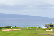 January 08 2015: Scenic view of number eleven green  during the Pro-Am for the Hyundai Tournament of Champions at Kapalua Plantation Course on Maui, HI.