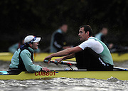 London. GREAT BRITAIN, 2007 Cambridge  University BC trial Eights,  Stroke. Kieran WEST. cox Russell GLENN, during  the Trial Eights, between Putney and Chiswick  08.12.2006. [Photo, Peter Spurrier/Intersport-images]. Varsity:Boat Race, Rowing Course: River Thames, Championship course, Putney to Mortlake 4.25 Miles