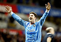 Photograph: Scott Heavey.<br /> Tottenham Hotspur v Manchester City. FA Cup Fourth Round Replay. 04/02/2004.<br /> Jon Macken cant believe Man City are through to the next round
