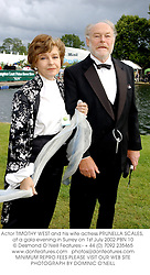 Actor TIMOTHY WEST and his wife actress PRUNELLA SCALES, at a gala evening in Surrey on 1st July 2002.	PBN 10