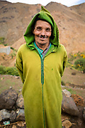 TALIOUINE, MOROCCO - October 25th 2015 - Portrait of a local to Tizgui village, Taliouine and Taroudant Province, Sirwa Mountain Range, Souss Massa Draa, Southern Morocco