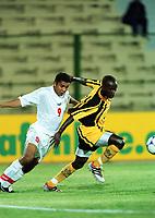 Fotball<br /> Afrikamesterskapet/African Nations Cup 2002<br /> Senegal v Zambia<br /> Foto: Digitalsport<br /> NORWAY ONLY<br /> MARK SINYANGWE (ZAM) / JAMEL ZABI (TUN)
