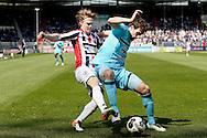01-05-2016 VOETBAL:WILLEM II - FEYENOORDTILBURG<br /> Eric Botteghin van Feyenoord in duel met Guus Hupperts van Willem II <br /> <br /> <br /> Foto: Geert van Erven